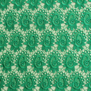 Sea Shell Green Chemical Guipure Lace Fabric Embroidered Lace