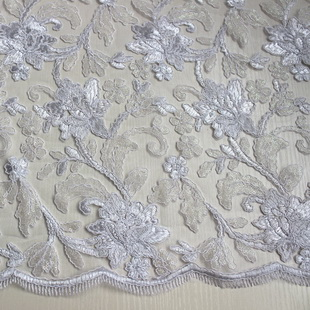 Ribbon Lace Embroidered Fabric XP0673