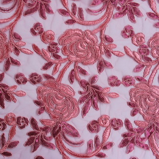 Ribbon Lace Embroidered Fabric XP0676